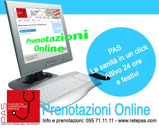 Prenotazioni mediche rete PAS